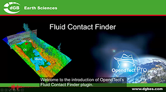 Introduction: OpendTect Fluid Contact Finder Plugin