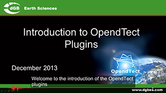 Introduction: OpendTect Plugins