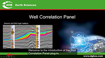 Introduction: OpendTect Well Correlation Panel Plugin