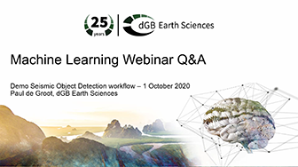 Machine Learning Webinar Q&A - Demo Seismic Object Detection workflow