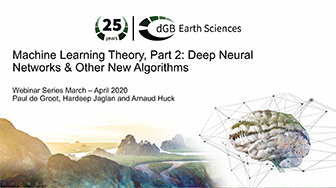 Machine Learning Webinars: Part 2: Theory: Deep Neural Networks and Other New Algorithms