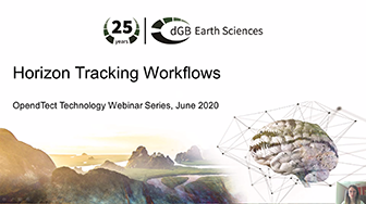 OpendTect Technology Webinar: Horizon Tracking Part 2: Inversion Based Tracking Workflows