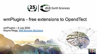 OpendTect Technology Webinar: wmPlugins - Open source plugins and external attribute scripts