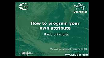 Webinar: How to program your own attribute in OpendTect