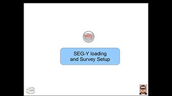 Webinar: SEG-Y data loading and Survey Setup in OpendTect 4.2