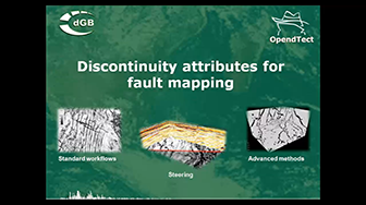 Webinar: Discontinuity attributes for fault mapping in OpendTect 4.2