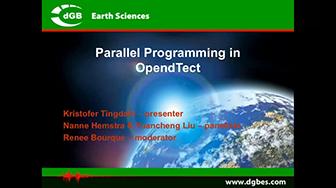 Webinar: Parallel Programming in OpendTect