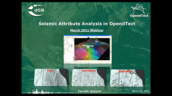 Webinar: Seismic Attribute Analysis in OpendTect 4.2