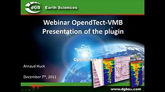 Webinar: Velocity Model Building (VMB) plugin for OpendTect