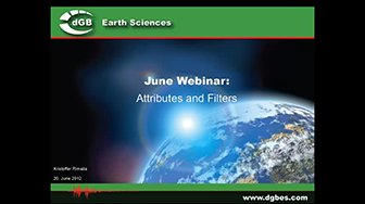 Webinar: Attributes and Filters in OpendTect