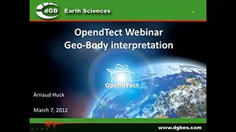 Webinar: Geo-Body Creation in OpendTect 4.2