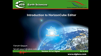 Webinar: Introduction to the HorizonCube Editor for OpendTect