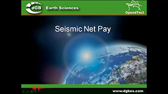 Webinar: Seismic Net Pay plugin for OpendTect