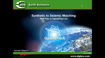 Webinar: Synthethic to Seismic Matching - Well Ties in OpendTect 4.2