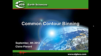 Webinar: Common Contour Binning (CCB) Fluid Contact Finder in OpendTect 4.4