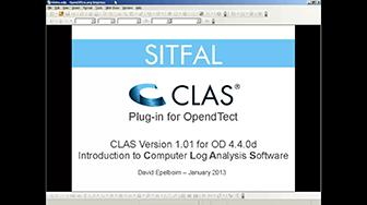 Webinar: CLAS plugin for OpendTect 4.4