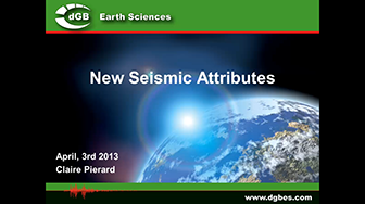 Webinar: New Seismic Attributes for OpendTect