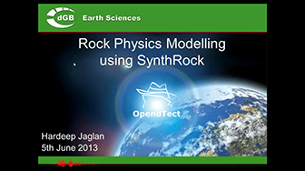 Webinar: Rock Physics Modeling using SynthRock