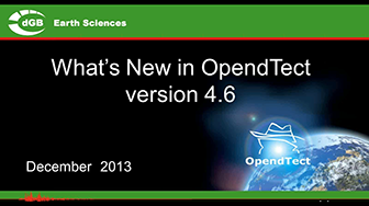 Webinar: What's New in OpendTect version 4.6