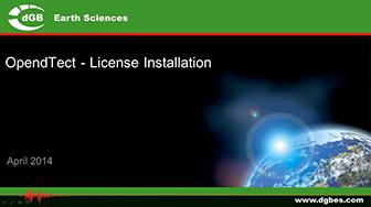 Webinar: OpendTect License Installation