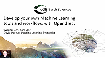 OpendTect Webinar: Develop your own Machine Learning tools and workflows with OpendTect