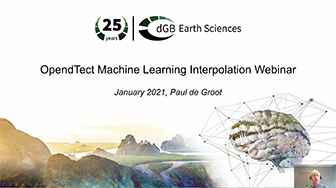 OpendTect Webinar: Machine Learning workflows for seismic data interpolation
