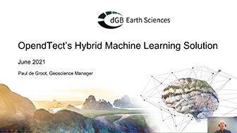 OpendTect Webinar: OpendTect's Hybrid Machine Learning Solution