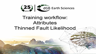 Training workflow: Attributes - Thinned Fault Likelihood