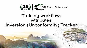 Training workflow: Attributes - Unconformity Tracker