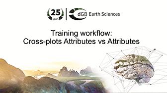 Training workflow: Cross-plots - Attributes vs Attributes
