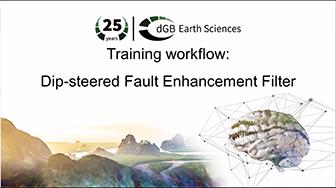 Training workflow: Data Enhancement - Dip-steered Fault Enhancement Filter