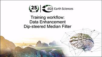 Training workflow: Data Enhancement - Dip-steered Median Filter