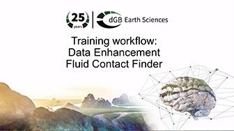 Training workflow: Data Enhancement - Fluid Contact Finder