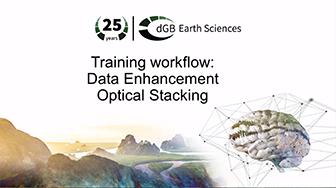 Training workflow: Data Enhancement - Optical Stacking