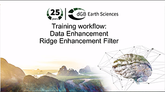 Training workflow: Data Enhancement - Ridge Enhancement Filter