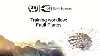 Training workflow: General Interpretation - Fault Planes