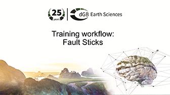 Training workflow: General Interpretation - Fault Sticks