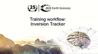 Training workflow: General Interpretation - Inversion Tracker