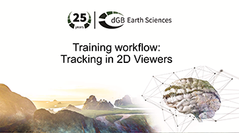 Training workflow: General Interpretation - Tracking in 2D Viewers