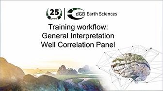 Training workflow: General Interpretation - Well Correlation Panel