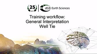 Training workflow: General Interpretation - Well Tie