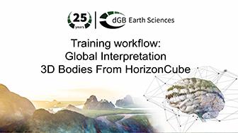 Training workflow: Global Interpretation - 3D Bodies From HorizonCube