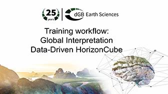 Training workflow: Global Interpretation - Data-driven HorizonCube