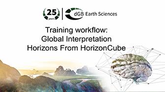 Training workflow: Global Interpretation - Horizons from HorizonCube