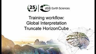 Training workflow: Global Interpretation - Truncate HorizonCube