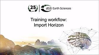 Training workflow: Import Data - Horizon
