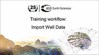 Training workflow: Import Data - Well Data