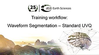 Training workflow: Pattern Recognition - Waveform Segmentation - Standard UVQ