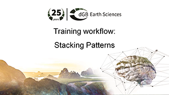 Training workflow: Sequence Stratigraphy - Stacking Patterns