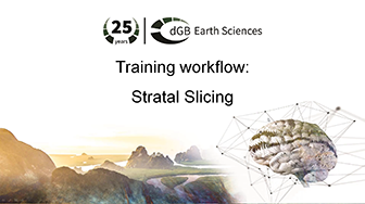Training workflow: Sequence Stratigraphy - Stratal Slicing